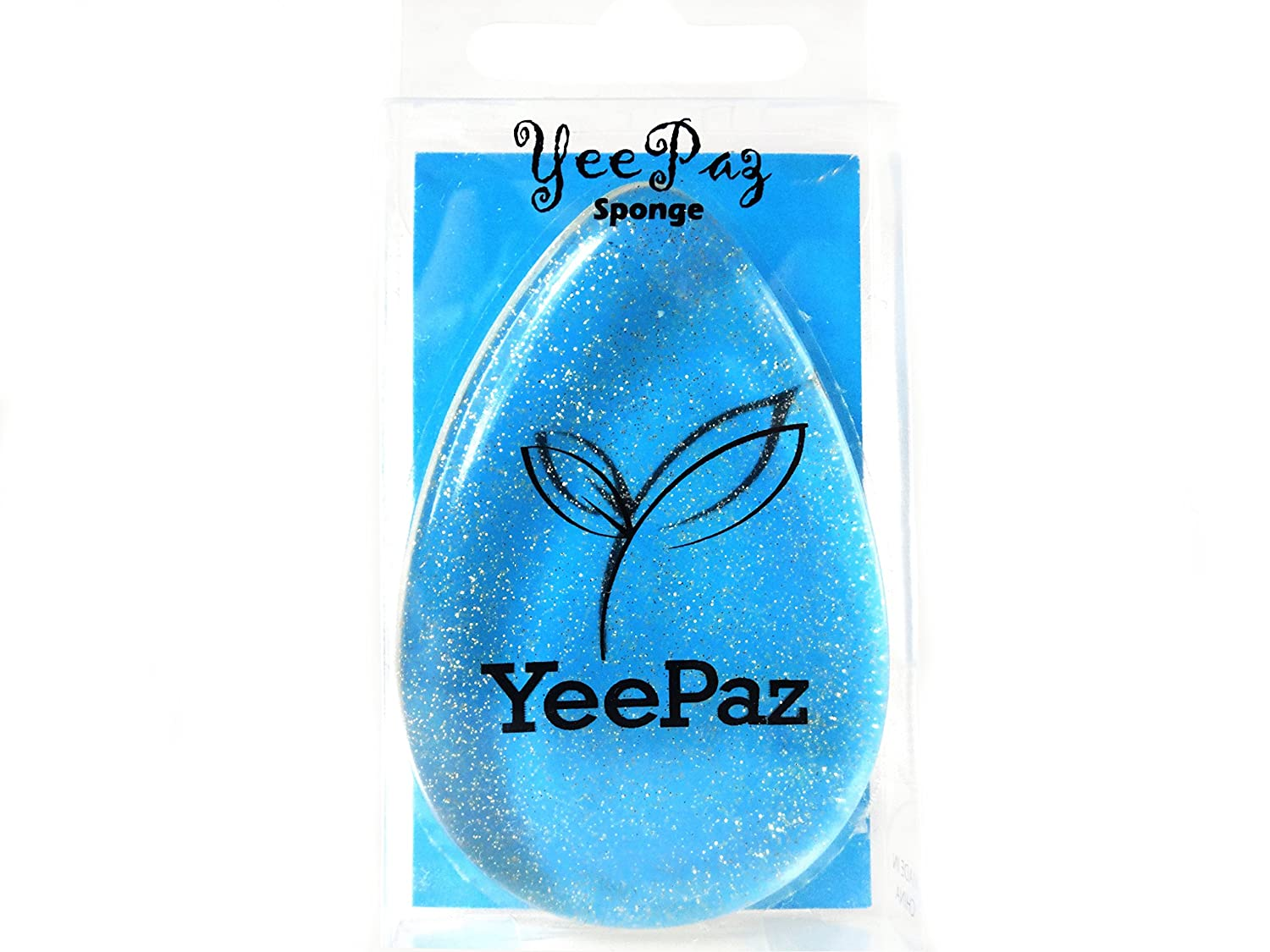 Silicone Makeup Sponge by YeePaz - Washable, Reusable, Multi-Use Makeup Applicator - Sparkling Tear Shape for Quick and Precise Application of Foundation / Blusher / Base / BB Cream / Flawless