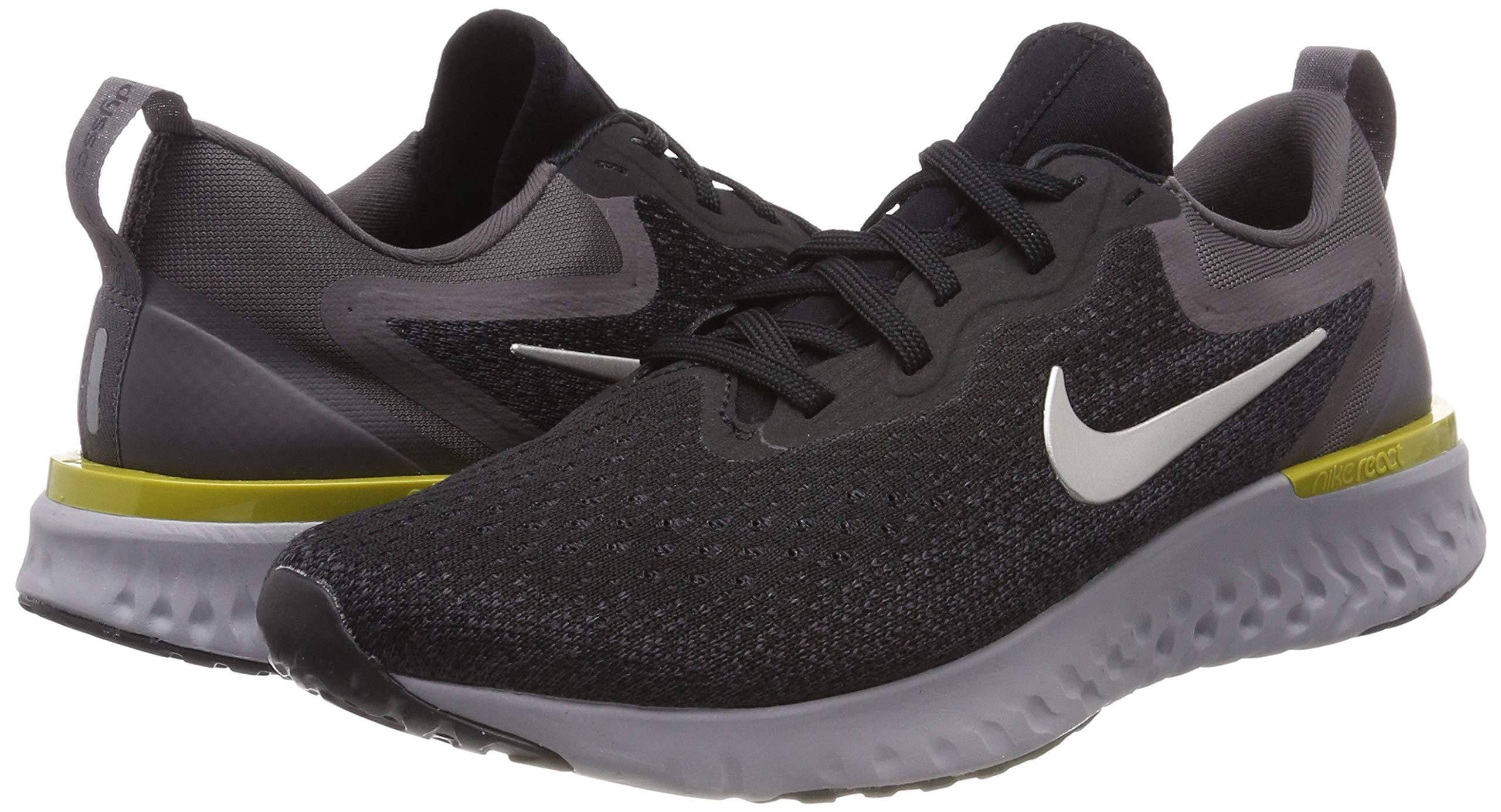 Nike Mens Odyssey React Running Shoes Black/Metallic/Grey/Atmos Grey 7 by Nike (Image #5)