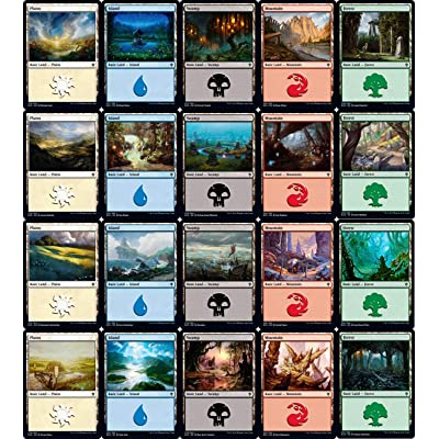 Magic: the Gathering Throne of Eldraine Basic Land Set (1 Each of 20): Toys & Games