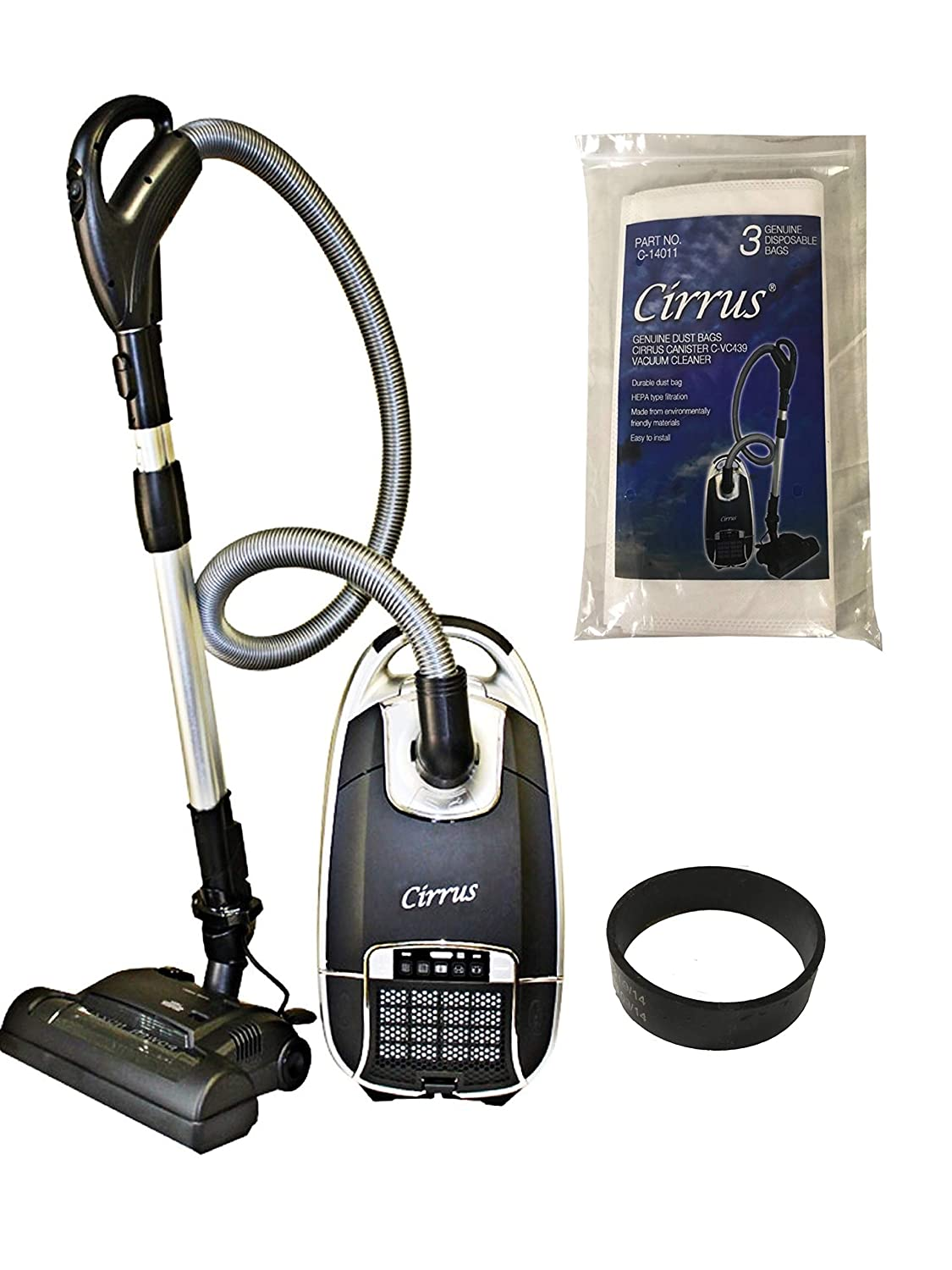 Cirrus Powerhead Residential Canister Vacuum C-VC439 with 3 Bags and 1 Belt Included