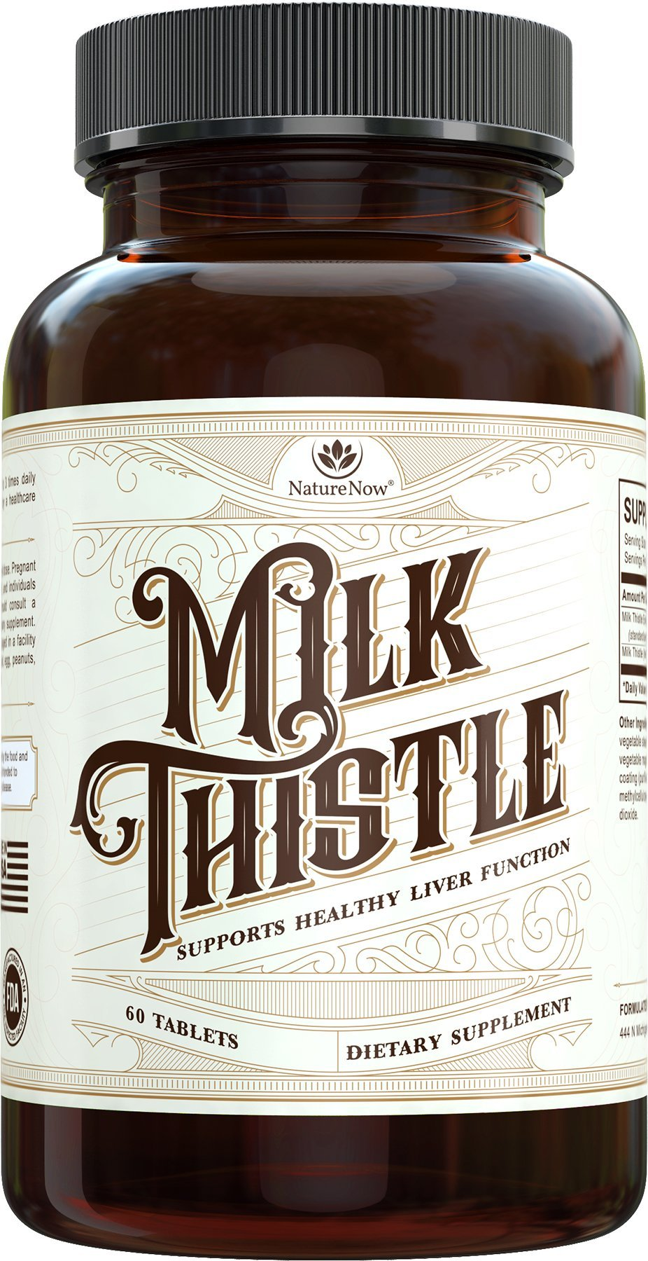 Milk Thistle Extract With Natural Silymarin Extract By NatureNow Is The #1 Best Selling Health Supplement Made In The USA For Healthy Liver Function Care, Support, Cleanse, Detox, And Hangover Helper
