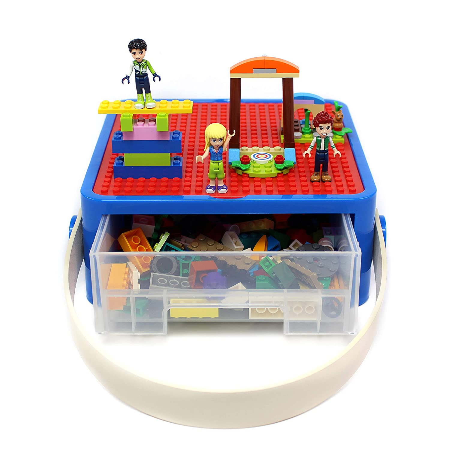 Dolls Compatible with Lego and Barbie Stackable Organizer with Dividers for Stackable Bricks and Toys Art Supplies Brick Nation Storage Container Blocks