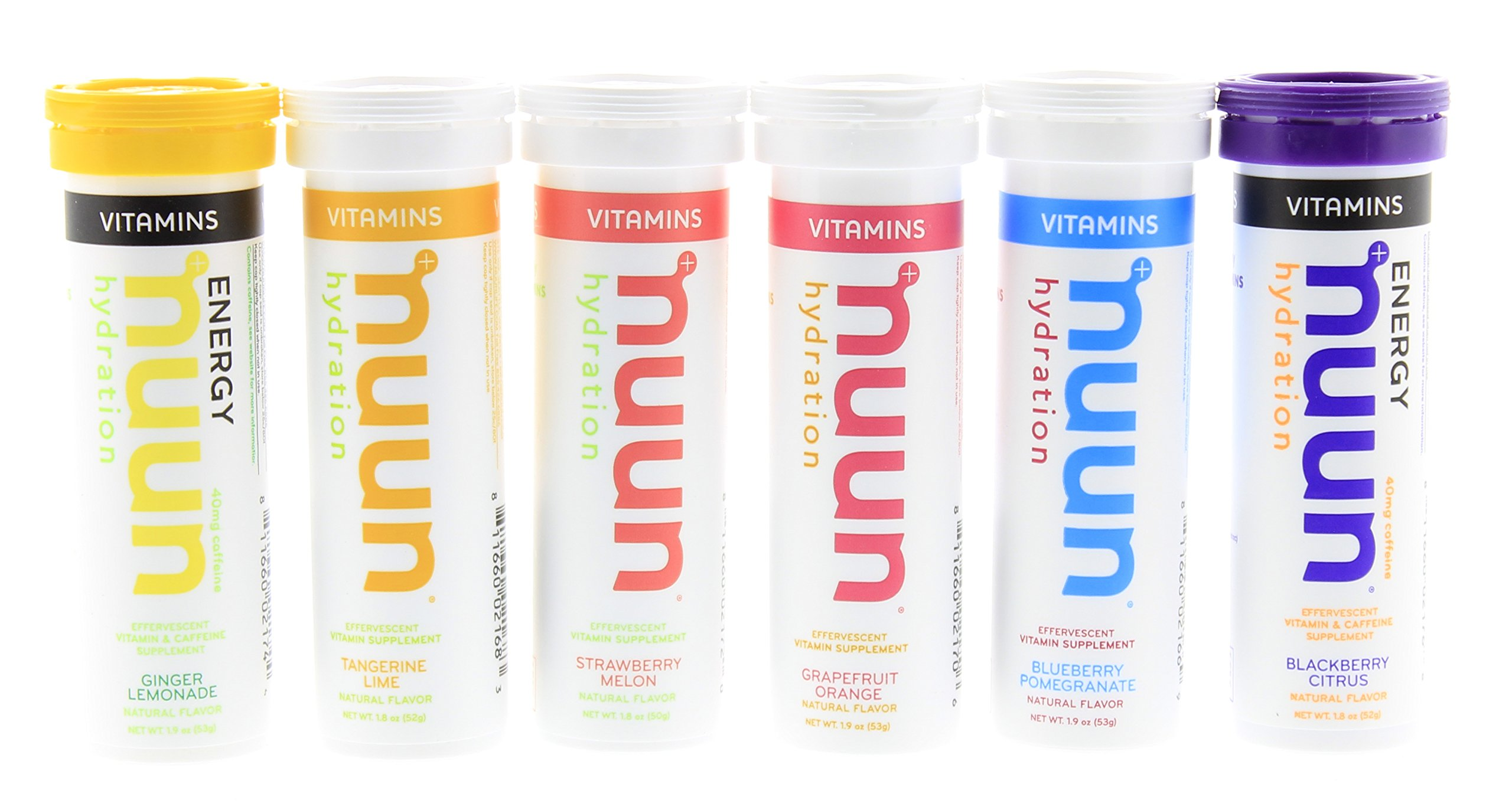 Nuun Hydration: Electrolytes + Vitamins 6-flavor Variety Pack, Contains 4 tubes of Nuun Vitamins and 2 Nuun Vitamins Energy