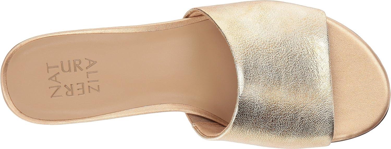 Naturalizer Women's Mason Slide Sandal B073X1TW1J 8.5 W US|Light Gold Metallic Leather