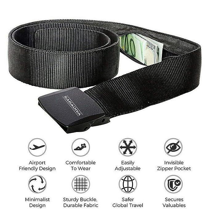 Amazon.com: SABADIVA Cinturón de viaje para dinero ...