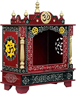 Maa Chandi WoodeMaa Chandi Home Temple/Wooden Temple/Home Temple/Pooja Mandir/Temple for Home/Office Temple/Navratre/Diwali Festive Season Gifts and puja