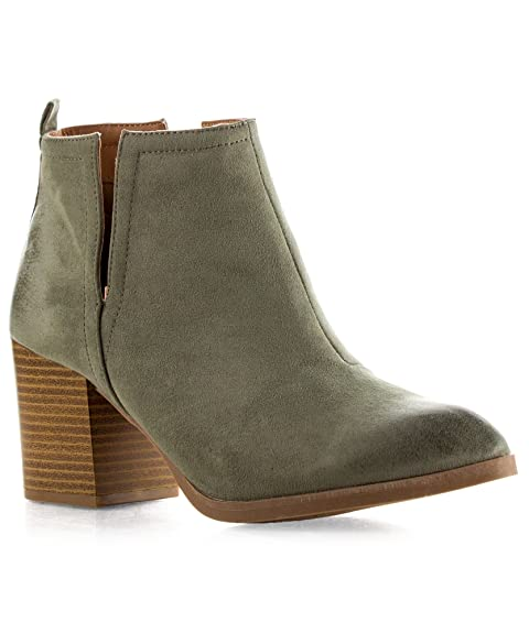 f603bc969 Perfecta para la mujer que quiere estar cómoda con unas bellas botas  tobilleras con tacón alto y cremallera lateral.