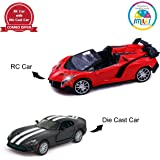 Smiles Creation 4 Channel, Top Speed and Light, 1:16 Scale Famous Sports Racing Car with Kinsmart Die-Cast Car Toys