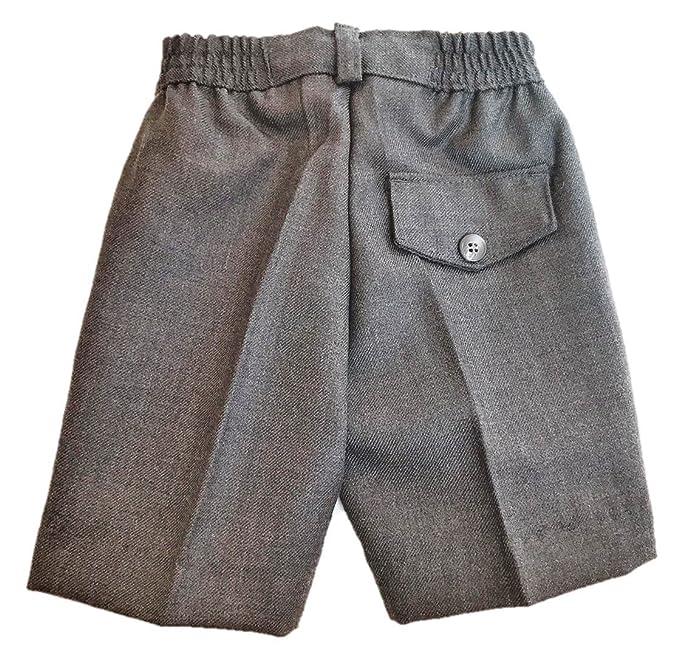 a552dfa475b5d Pantalón Corto Gris Uniforme Escolar (Cintura elástica) 45% Lana 55%  Poliéster - Fabricación Española - El Patio de mi Cole  Amazon.es  Ropa y  accesorios