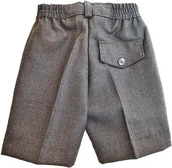 EL PATIO DE MI COLE Pantalón Corto Gris Uniforme Escolar (Cintura elástica) 45% Lana 55% Poliéster - Fabricación Española: Amazon.es: Ropa y accesorios