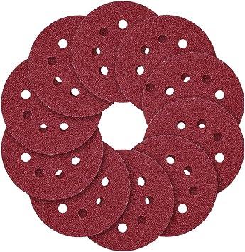 10pcs 5/'/'40~2000Grit  Sanding Discs Hook/&Loop Backed Sanding Pad Sandpaper 125mm