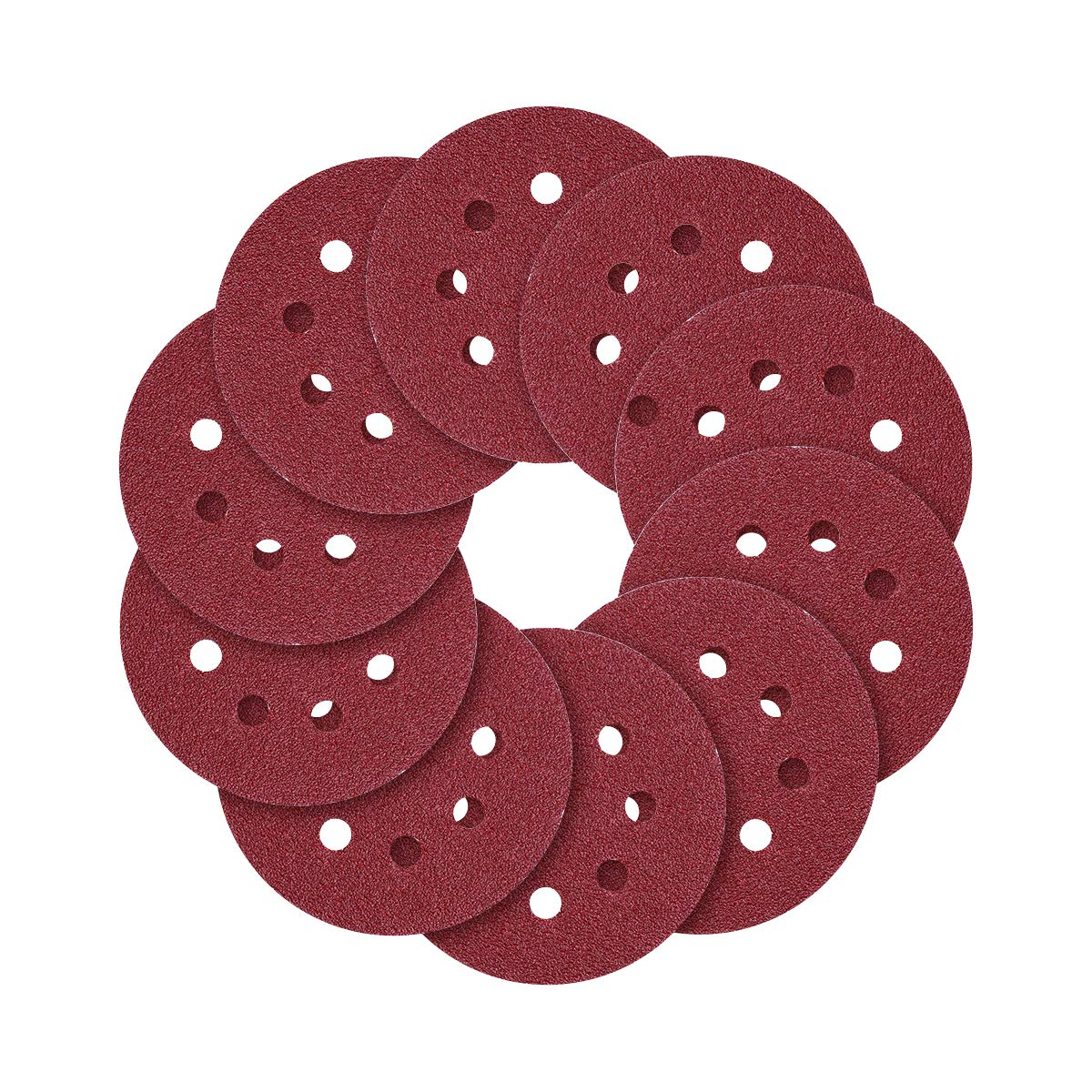 5-Inch 8-Hole Hook and Loop Sanding Discs, 40/80/120/240/320/600/800 Assorted Grits Sandpaper - Pack of 70 81NXGuEGXhL