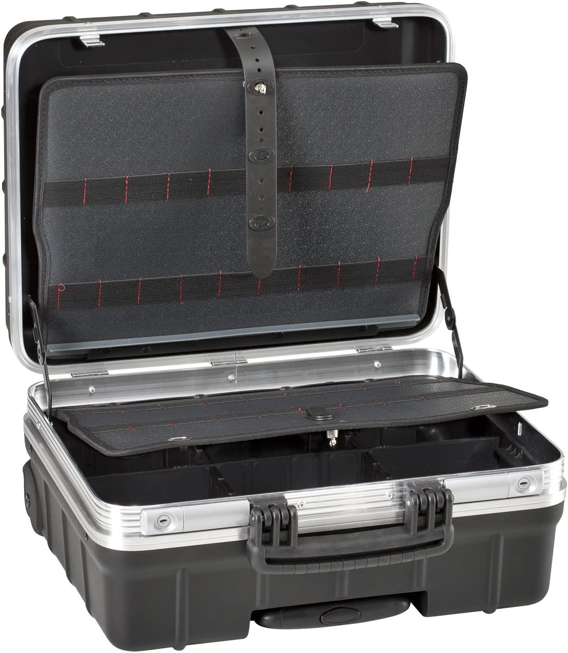 GT Line ATOMIKWHPEL Maleta portaherramientas con elásticos fabricada en polipropileno (interior 465 x 352 x 255 mm)