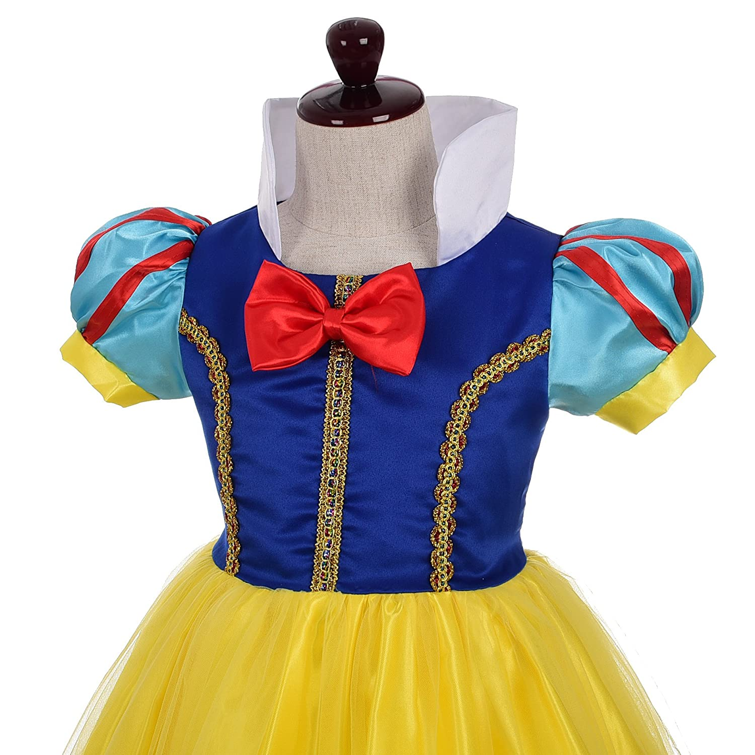 Lito Angels Girls Princess Snow White Costume Fancy Dresses Up Halloween Outfit with Headband