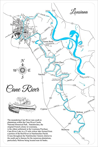 cane river louisiana map Amazon Com Cane River Louisiana Framed Wood Map Wall Hanging cane river louisiana map