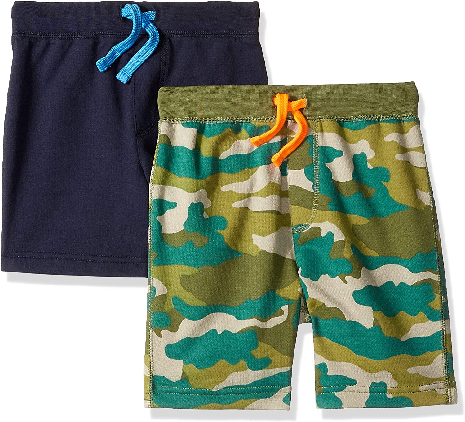 LOOK by crewcuts Boys 2-Pack Pull on Shorts Crew Brand // J