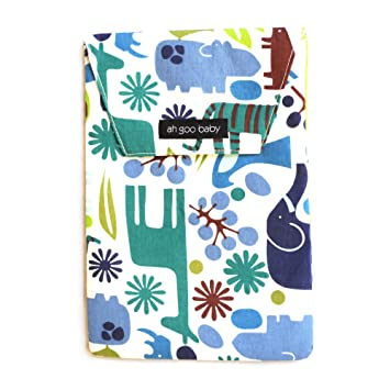 Amazon.com   Ah Goo Baby Diaper Travel Pouch, Zoo Frenzy Pattern   Diaper  Tote Bags   Baby 7567991fd8