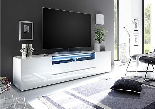 JUSTyou24 justyou Mathilda II LOWBOARD Tarjeta de TV Mesa de Televisión (Medidas: 49 x 203 x 43 cm), Color Blanco Brillante: Amazon.es: Juguetes y juegos