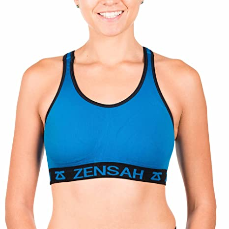 c435f86118 Amazon.com  Zensah Womens Reversible Sports Bra - Seamless Sport Bra ...