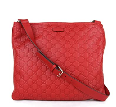 80c1c1256ec9 Gucci Women's Red Guccissima Leather Crossbody Messenger Bag 201446 6523:  Amazon.co.uk: Shoes & Bags