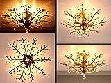 Garwarm Vintage Crystal Chandeliers Ceiling