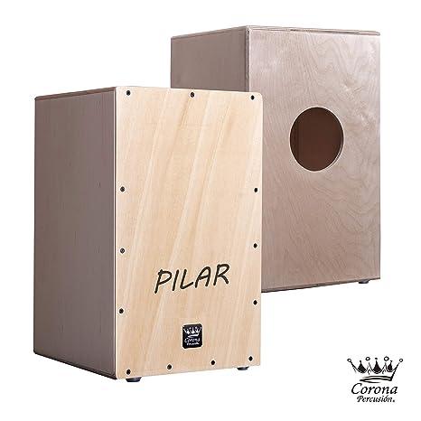Corona percusion - Cajon flamenco personalizado adulto en madera de abedul barnizada y tapa frontal con. Pasa ...