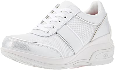 5c8fe3817c1d6 Fornarina Chaussures Femme Baskets Basses PE18AN1059VL91 Taille 36 Blanc Or  bKdnOk0C