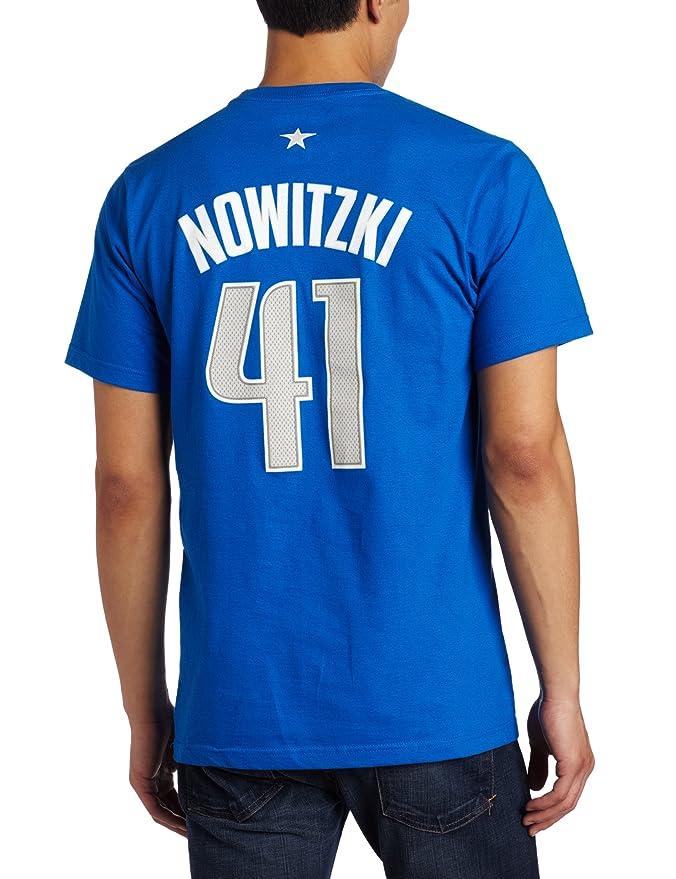 Adidas NBA Dallas Mavericks Dirk Nowitzki Nombre y número Camiseta, NBA, Dirk Nowitzki, Hombre, Color Azul Cobalto, tamaño Small: Amazon.es: Deportes y aire ...