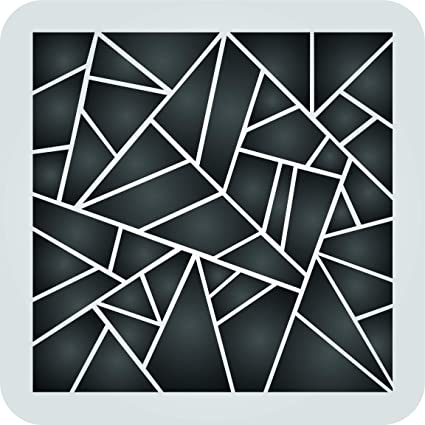 Geometric Stencil 13 5 X 13 5 Inch L Reusable Pattern Wall Art Decor Stencils For Painting Use On Paper Projects Walls Floors Fabric Furniture