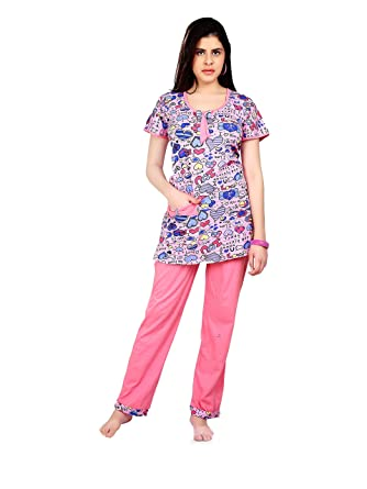 2eb8ce84aa FARRY Relaxing Stylish Women Night Dress - Comfortable and Soft Night Wear  Cotton Jersey Rayon for