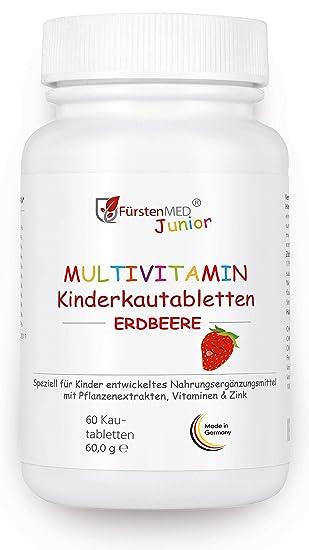 FürstenMED® Multivitamin Kautabletten Erdbeere - Kinder Vitamine ...