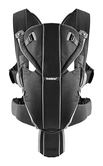 Babybjorn Baby Carrier Miracle Black Silver Cotton