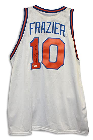 timeless design ce5c0 d1976 Walt Frazier New York Knicks Autographed White Throwback ...