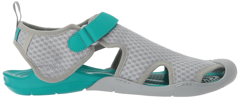 Crocs Women's Swiftwater Mesh Sandal B072J4RGR1 6 B(M) US Light Grey