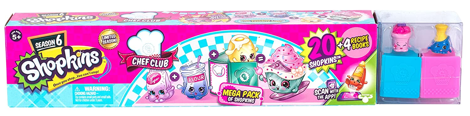 Amazon Shopkins Season 6 Chef Club Mega Pack Collectible Toy With Over 20 Pcs Toys Games