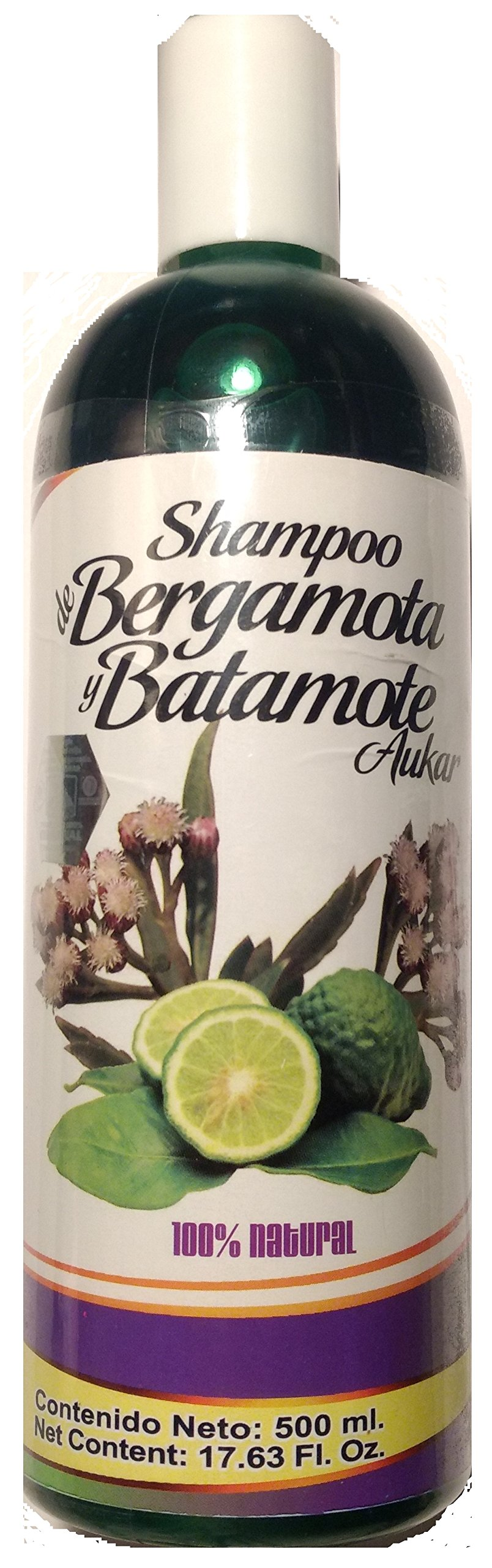 Shampoo de Bergamota y Batamote Aukar, 500 ml / 17.63 Fl Oz. Shampoo of Bergamot and Batamote Aukar, Hair Wroth, Strong Hair with more Shine