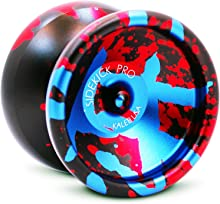 Sidekick Yoyo Pro Black Red Blue Splashes Professional Aluminum UNresponsive 7S YoYo