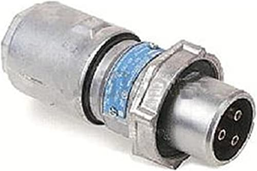 Crouse-Hinds APJ6485 3-Wire 4-Pole Arktite Heavy-Duty 60 Amp Circuit Breaking Plug With Cable Grip And Neoprene Bushing