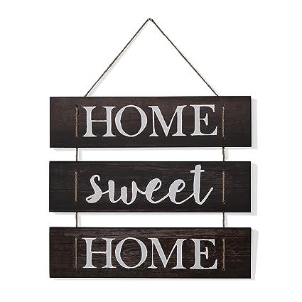 amazon com danya b home sweet home wooden wall hanging with rh amazon com wooden wall hanging designs wooden wall hanging rack