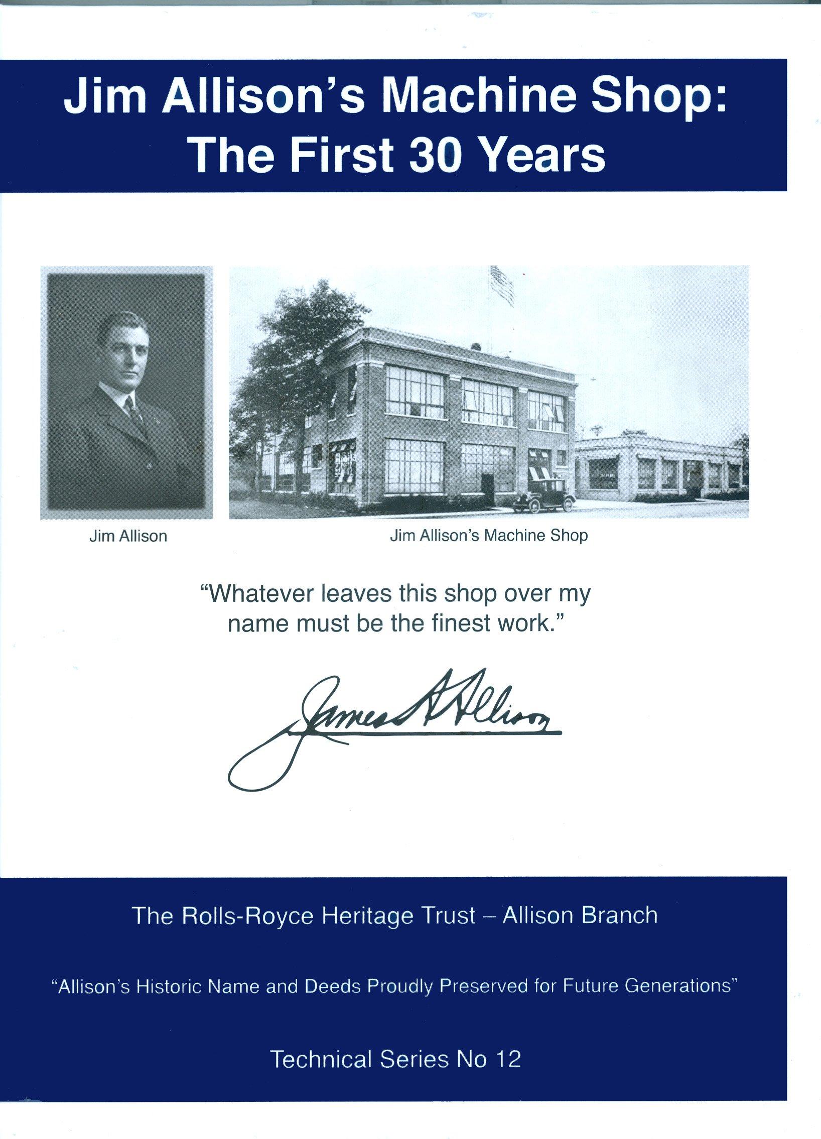 Read Online Jim Allison's Machine Shop: The First 30 Years PDF