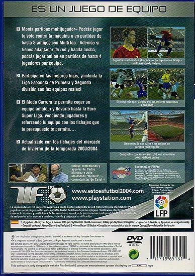 Esto es Futbol 2004 (PS2): Amazon.es: Videojuegos