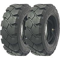 Set 2 Zeemax Heavy Duty 7.00-12 /12TT Forklift Tires w/Tube Flap Rim Guard