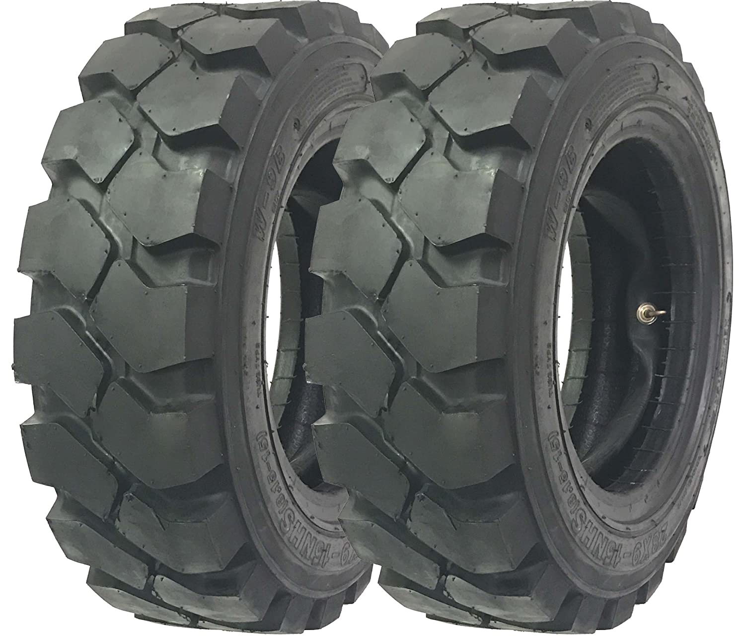 Set of 2 New Zeemax HD 28x9-15 8.15-15 //14TT Forklift Tires w//Tube /& Flap /& Rim Guard