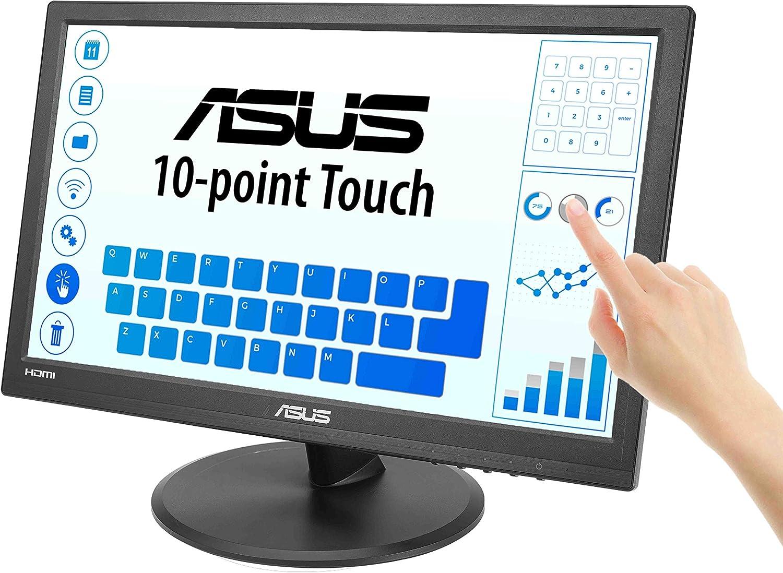 Asus Vt168h 39 6 Cm Multi Touch Monitor Schwarz Computer Zubehör