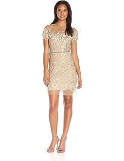 Amazon.com  Nicole Miller Women s Techy Crepe Vneck Dress with ... c73f15cc5