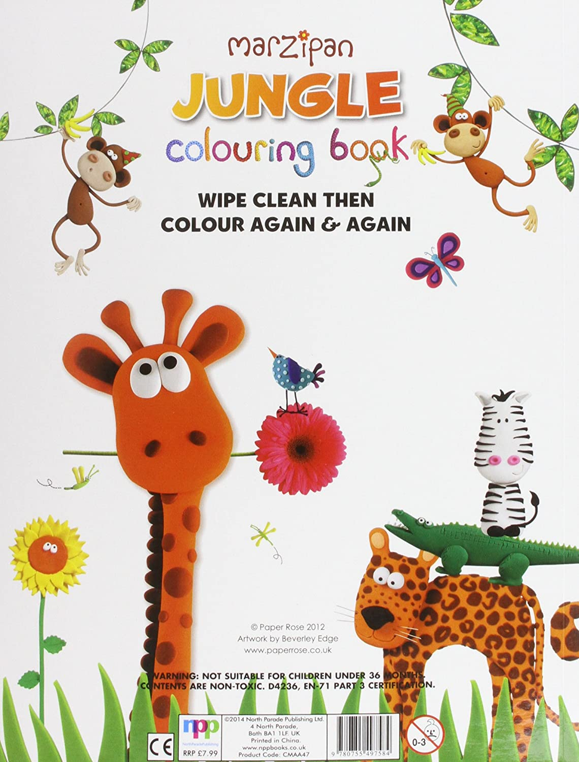 Co coloring book printer paper - Co Coloring Book Rose Jungle Wipe Clean Colouring Book And Crayon Set With Crayons Paper