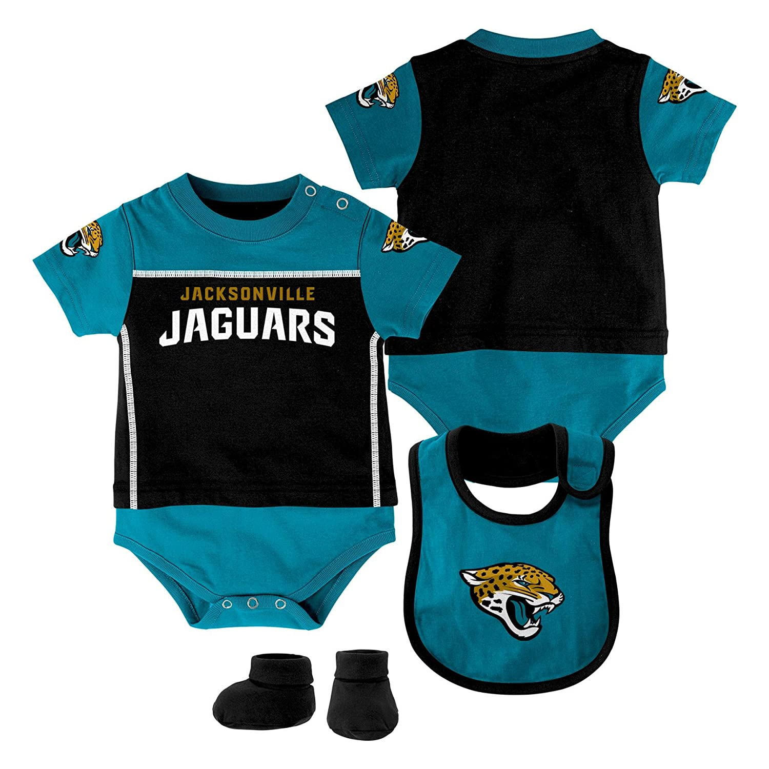 Outerstuff NFL Newborn Boys Lil Jersey Creeper Bib and Booty