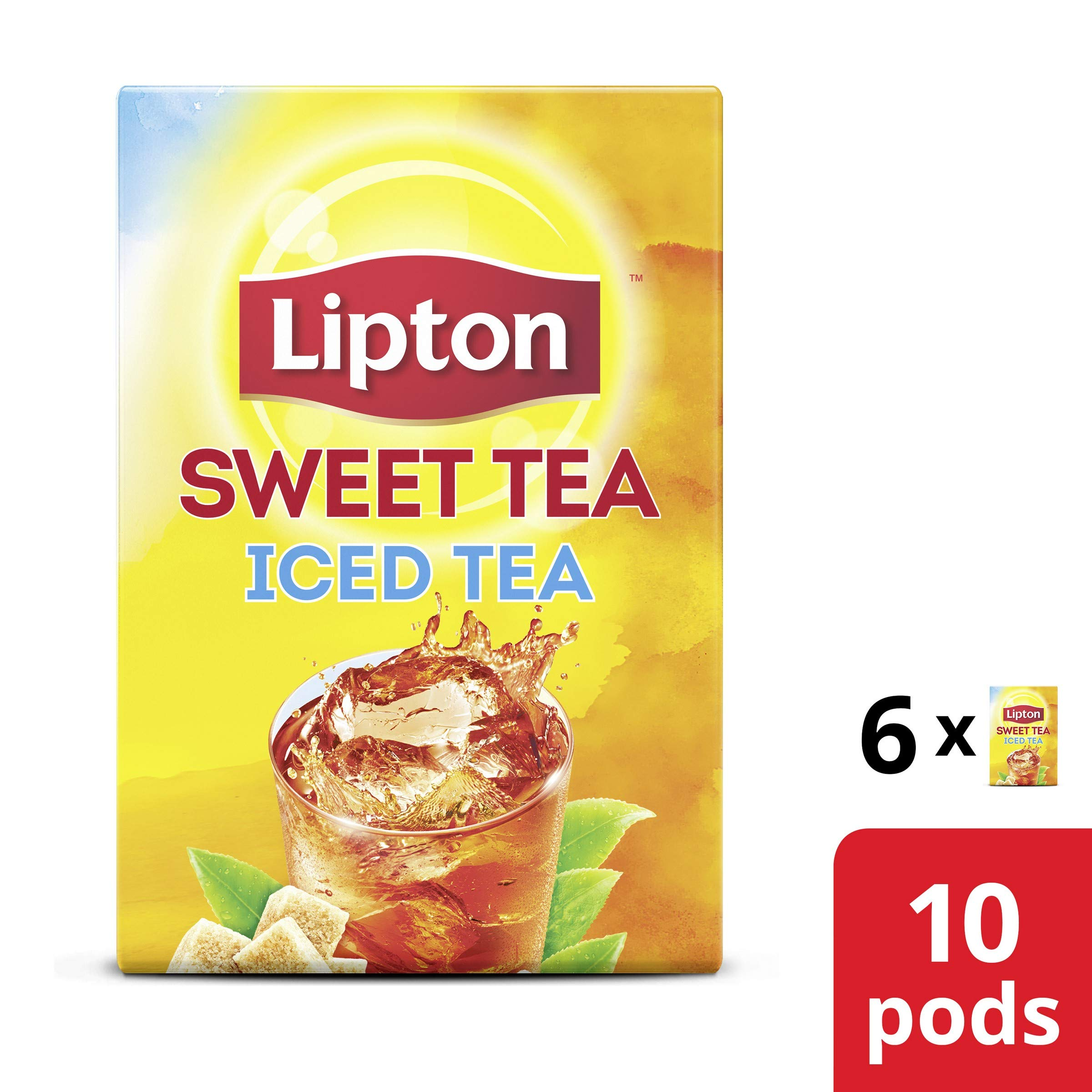 Lipton Iced Tea K-Cups for Keurig brewers Southern Sweet Tea 100% Rainforest Alliance Certified 10 count pack of 6 by Lipton