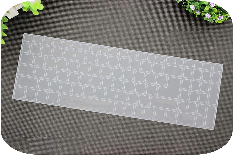 15.6 inch Silicone Keyboard Cover Protector for Acer Aspire E15 E 15 E5-576 E5576 V3 V15 E5-553G/575G / Aspire 3 5 7 Series-Transparent-