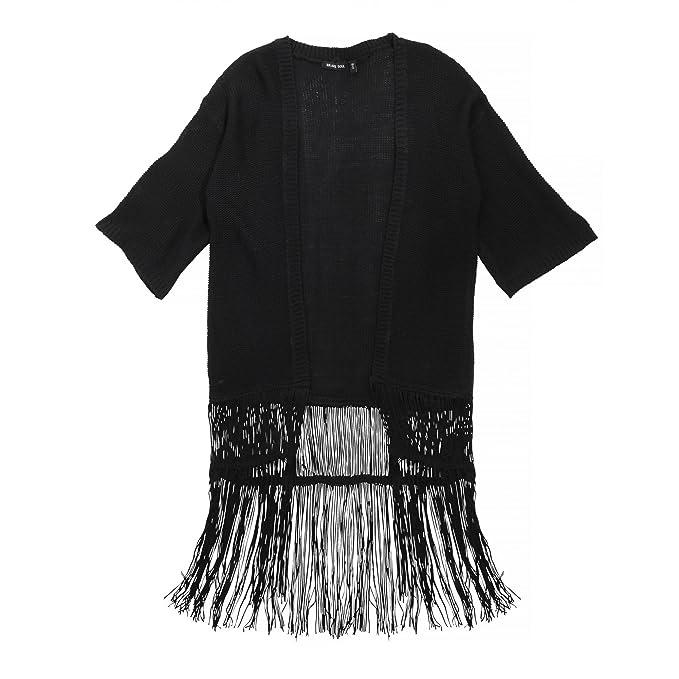 Brave Soul - Chaqueta kimono con flecos para mujer: Amazon.es: Ropa y accesorios